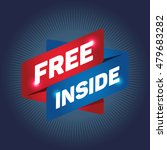free inside arrow tag sign. | Shutterstock .eps vector #479683282