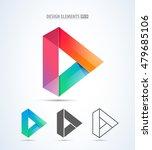 vector play logo icon. video... | Shutterstock .eps vector #479685106
