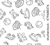baby toy drawings  car  bear ... | Shutterstock .eps vector #479688376