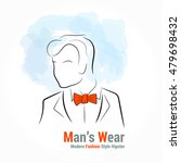 Vector Silhouette Man With...