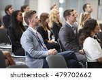 audience listening to  speaker... | Shutterstock . vector #479702662