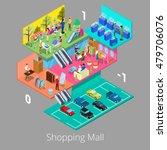 isometric shopping mall... | Shutterstock .eps vector #479706076
