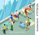 isometric real estate office.... | Shutterstock .eps vector #479706106