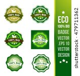 100  bio badge label seal stamp ... | Shutterstock .eps vector #479711362