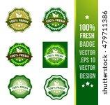 100  fresh badge label seal... | Shutterstock .eps vector #479711386