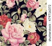 seamless floral pattern with... | Shutterstock . vector #479716372