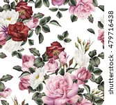 seamless floral pattern with... | Shutterstock . vector #479716438