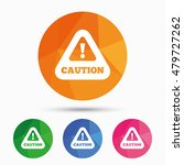 attention caution sign icon.... | Shutterstock .eps vector #479727262