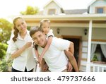 asian family portrait with... | Shutterstock . vector #479737666