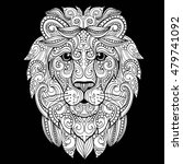 hand drawn doodle zentangle...   Shutterstock .eps vector #479741092