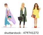 set of beautiful young stylish... | Shutterstock .eps vector #479741272