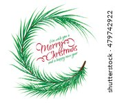 christmas round frame of fir... | Shutterstock .eps vector #479742922
