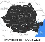 romania map   vector detailed...