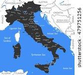 italy map   vector detailed... | Shutterstock .eps vector #479751256