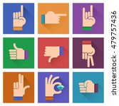 different hands  gestures ... | Shutterstock .eps vector #479757436