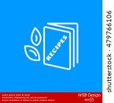 web line icon. recipe book | Shutterstock .eps vector #479766106