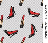 fashion red lipstick poster ... | Shutterstock .eps vector #479766595