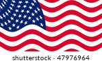 illustration of usa flag waving ... | Shutterstock . vector #47976964