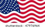illustration of usa flag waving ... | Shutterstock . vector #47976964