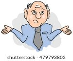 confused man with shrugged... | Shutterstock .eps vector #479793802