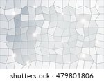 polygon background of silver... | Shutterstock .eps vector #479801806