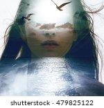 double exposure portrait of a... | Shutterstock . vector #479825122