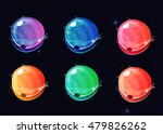 set of colors space glossy...