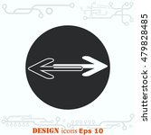 arrow indicates the direction ... | Shutterstock .eps vector #479828485
