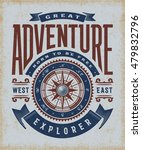 vintage great adventure... | Shutterstock .eps vector #479832796