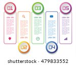 five banners of abstract... | Shutterstock .eps vector #479833552