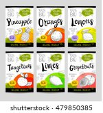 set of colorful stickers in... | Shutterstock .eps vector #479850385
