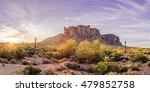 Sun Peaking At Lost Dutchman State Park - Apache Junction Arizona