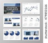 set of blue template for... | Shutterstock .eps vector #479853166