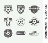 set of vintage soccer or... | Shutterstock .eps vector #479854432