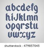 vector gothic handwritten font. ... | Shutterstock .eps vector #479857045