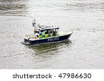 Police Boat At River Thames Fo...