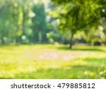 blur green leaves with bokeh as ... | Shutterstock . vector #479885812