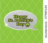happy st patrick's day | Shutterstock .eps vector #47989144