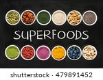 superfoods collection on... | Shutterstock . vector #479891452