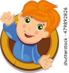 happy boy. vector illustration. ... | Shutterstock .eps vector #479892826