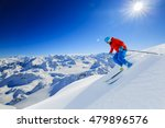 skier skiing downhill in high... | Shutterstock . vector #479896576