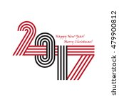 2017 happy new year trendy and... | Shutterstock .eps vector #479900812