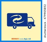 delivery sign icon  vector... | Shutterstock .eps vector #479905852