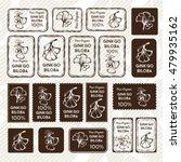 ginkgo biloba. stamps and... | Shutterstock .eps vector #479935162