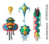summer kite and flying kite   Shutterstock .eps vector #479937016