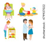 young mother vector characters... | Shutterstock .eps vector #479937022