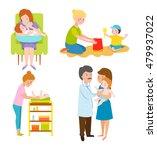 young mother vector characters... | Shutterstock .eps vector #479937022