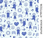 seamless pattern with world... | Shutterstock .eps vector #479973136