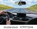 driver goes by car on highway... | Shutterstock . vector #479973346