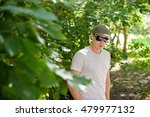 young guy in sunglasses... | Shutterstock . vector #479977132